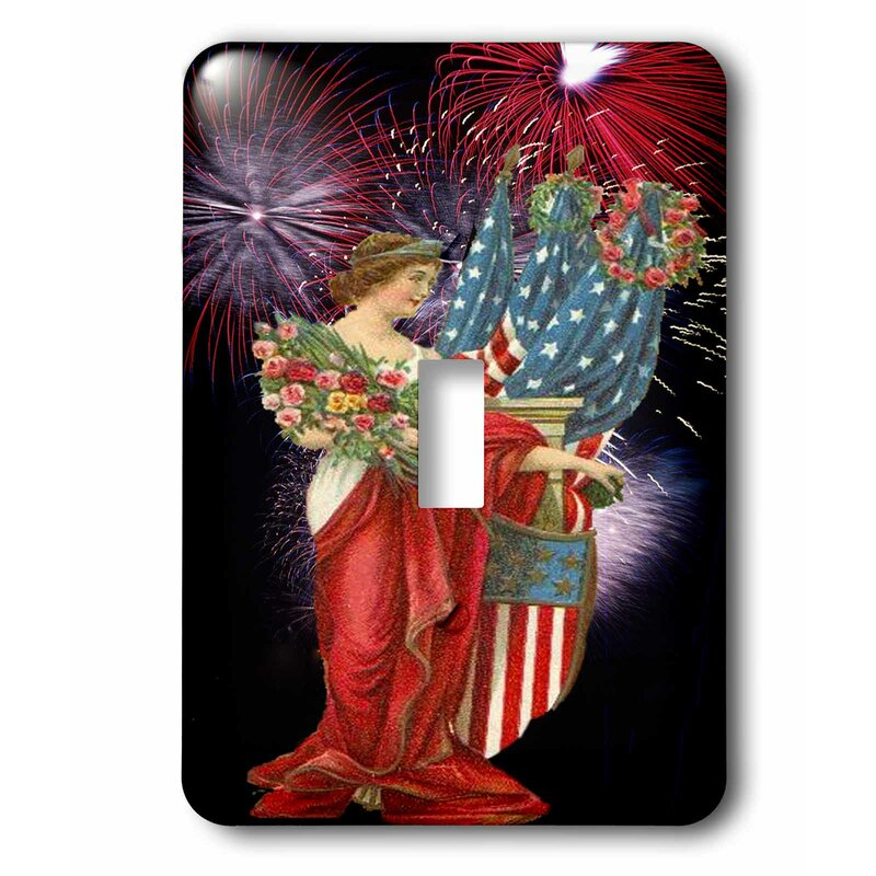 3drose Switch Vintage Lady And Fireworks 1 Gang Toggle Light Switch Wall Plate Wayfair
