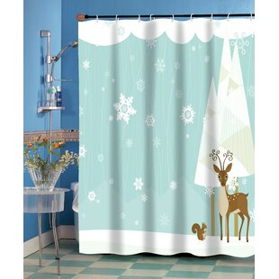 Forest Friends Single Shower Curtain