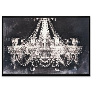 Dramatic Entrance Night Chandelier Framed Graphic Art Print On Canvas
