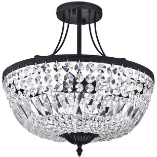 Affordable Price Jacinda 3-Light Semi Flush Mount By House of Hampton