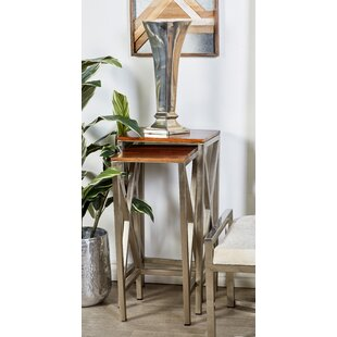 Price comparison Metal and Wood 2 Piece Nesting Tables by Cole & Grey