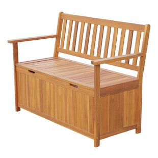 Silvia Outdoor Wooden Storage Bench