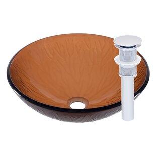 Price comparison Gambo Glass Circular Vessel Bathroom Sink By Novatto