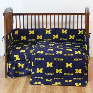 NCAA 5 Piece Crib Bedding Set ByCollege Covers