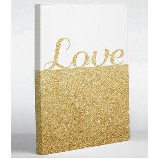 Sparkle Love Graphic Art on Canvas 3465af6059