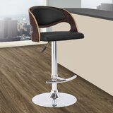 Chaffins Swivel Adjustable Height Bar Stool by George Oliver