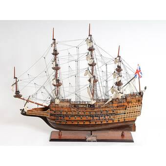 Old Modern Handicrafts HMS Victory Painted Model Ship   Wayfair