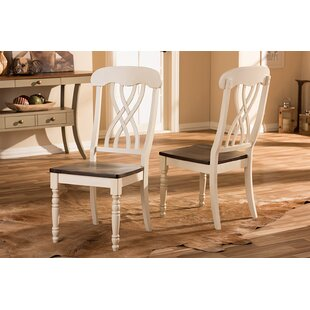 Caddell Solid Wood Dining Chair (Set of 2) DarHome Co