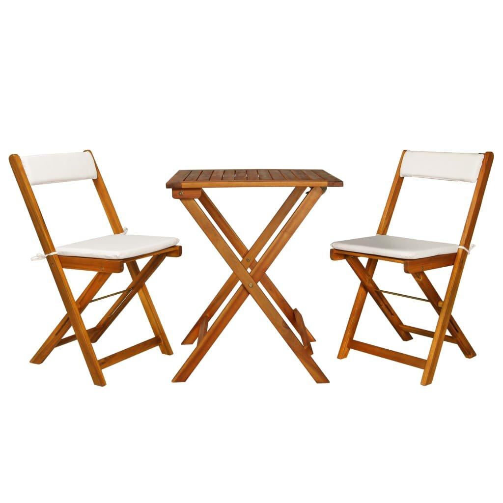 Highland Dunes Sperling 3 Piece Bistro Set With Cushions Reviews Wayfair