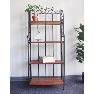 Verlene Metal/Wood Etagere Bookcase