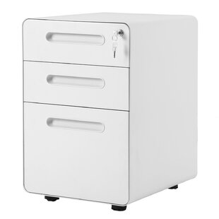 Review Horford 3 Drawers Vertical Filling Cabinet