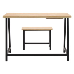 2 Piece Homeroom Writing Desk and Bench Set by Offex