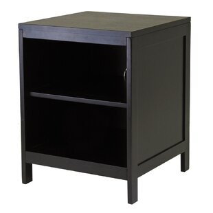 Hailey End Table with Storage by Winsome