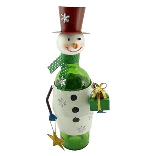 Metal Christmas Snowman with Gift and Wis..