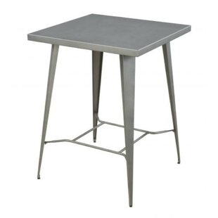 Mccraw Square Metal Counter Height Pub Table