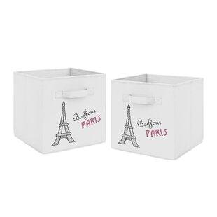 Buying Paris Fabric Bin (Set of 2) BySweet Jojo Designs