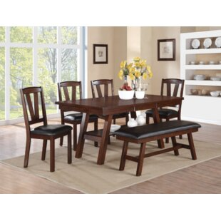 Jonanthan 6 Piece Dining Set by Loon Peak