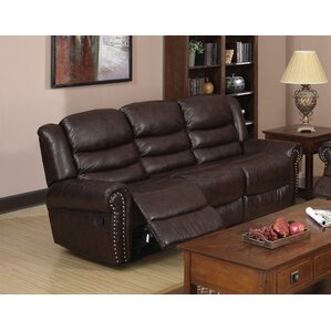 Wausau Leather Reclining Sofa by Beverly Fin..
