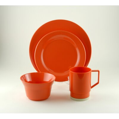 Galleyware  Company Melamine 16 Piece Dinnerware Set, Service for 4  Color: Salmon