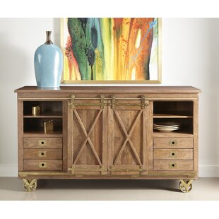 Guffey 2 Sliding Door 6 Drawer Media Credenza Williston Forge