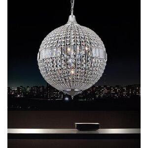 4-Light LED Globe Pendant