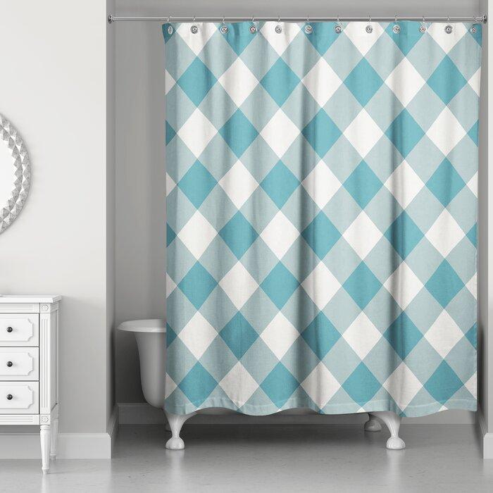 Callista Plaid Shower Curtain