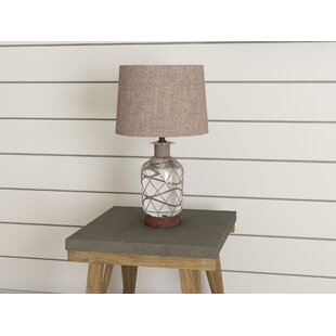 Clora Jute-Wrapped Mercury Glass 24 Table Lamp