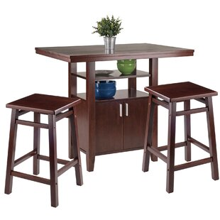 Bones 3 Piece Pub Table Set Charlton Home