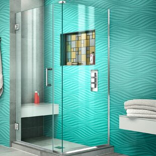Unidoor Plus 32.5 x 72 Hinged Frameless Shower Door with Clear Max Technology by DreamLine