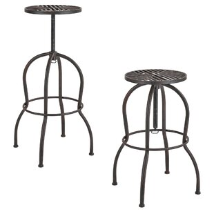 Compare Price Pedersen Height Adjustable Bar Stools (Set Of 2)