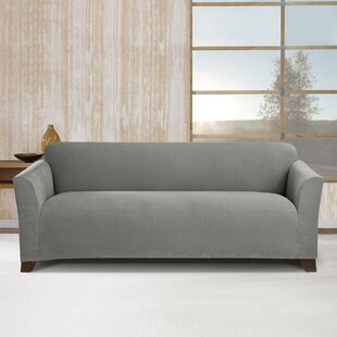 Buy clear Stretch Morgan Box Cushion Sofa Slipcover by Sure Fit Reviews (2019) & Buyer's Guide