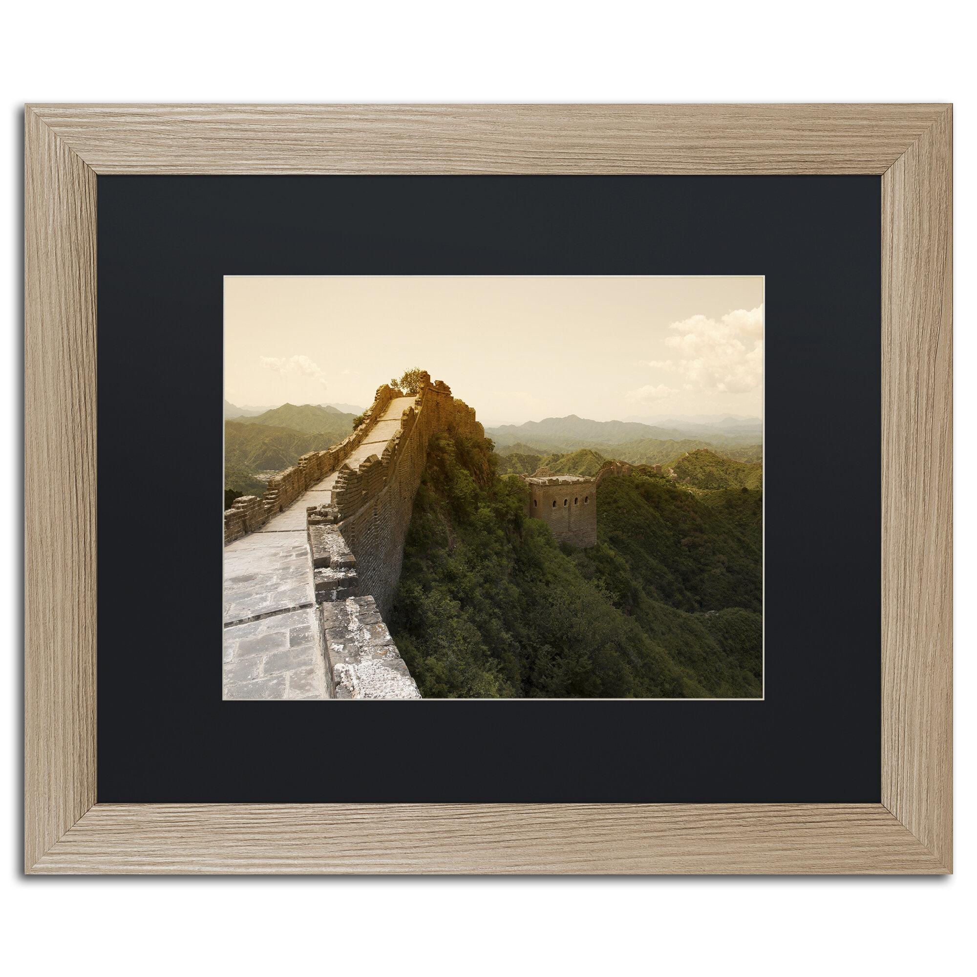 Trademark Art Great Wall X By Philippe Hugonnard Framed Photographic Print Wayfair