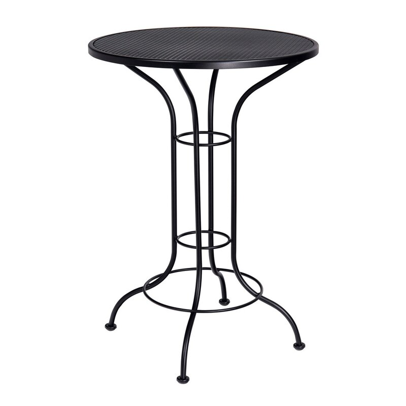 Woodard Bar Height Outdoor Round Mesh Top Bistro Table Reviews