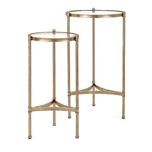 Vince Metallic 2 Piece End Table Set by Ivy Bronx