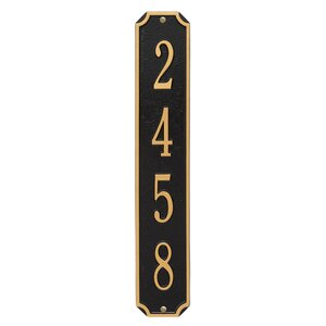 4-Line Wall Address Plaque