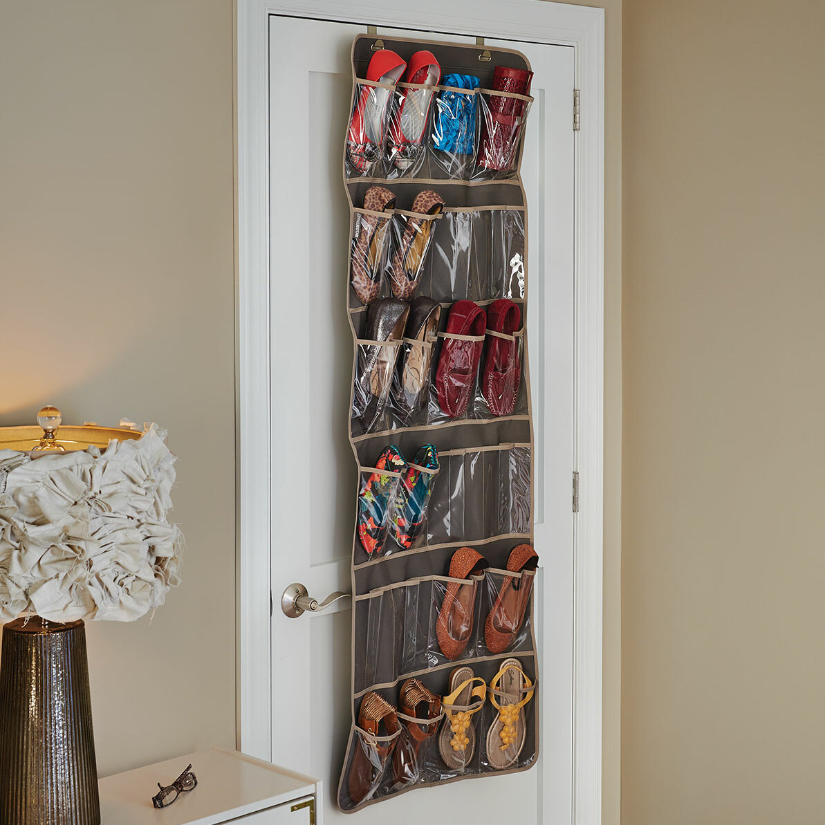 Closetmaid 24 Pocket 12 Pair Overdoor Shoe Organizer Reviews Wayfair