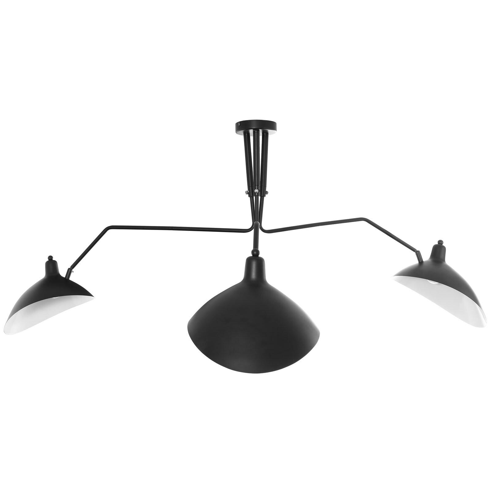 Elkland ceiling fixture 3 light cluster pendant reviews allmodern