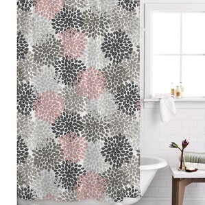 pink grey shower curtain. Charlotte Shower Curtain Pink Curtains You ll Love