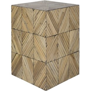 Margene Global-Inspired Wood End Table by Bungalow Rose