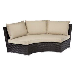 Solana 1/4 Round Patio Sofa with Sunbrella Cushion by Sunset West
