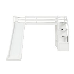 Bovey Twin Loft Bed with Shelves by Isabelle amp Max