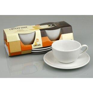 Coffee Bar Mug and Saucer (Set of 2)
