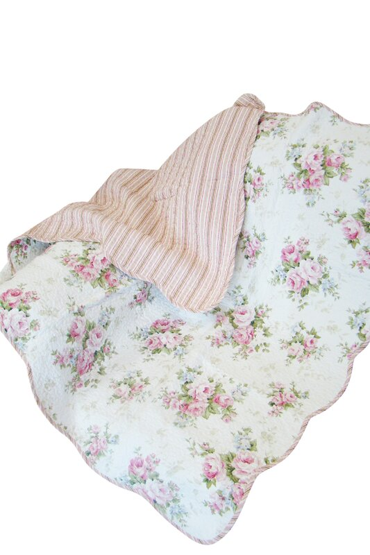 Rose Perfume Spring Rose Cotton Throw Blanket