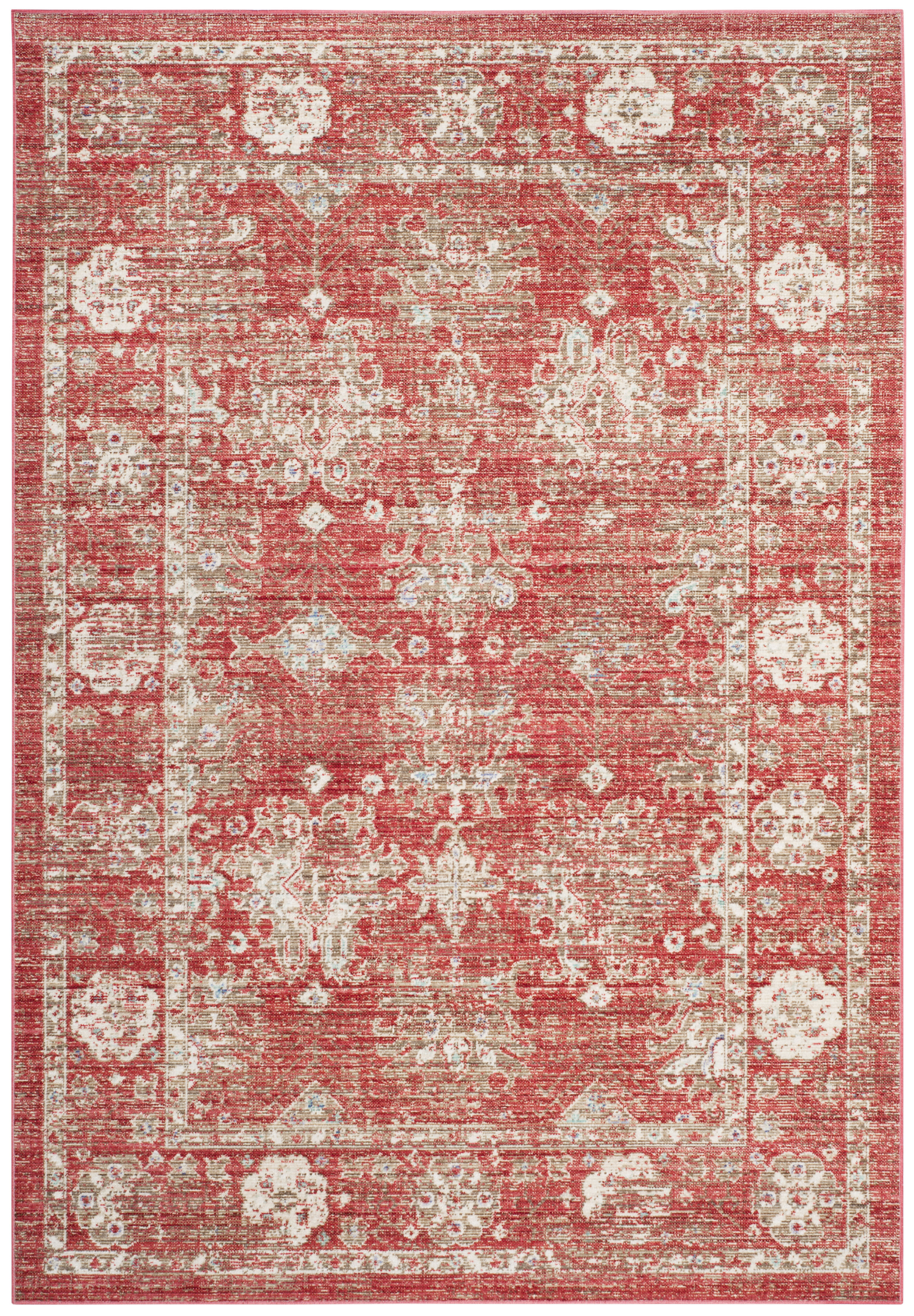 Bungalow Rose Chauncey Oriental Red Ivory Area Rug Reviews Wayfair