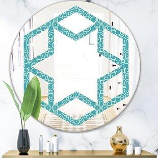 Hexagon Geometrical Design III Eclectic Wall Mirror by East Urban Home