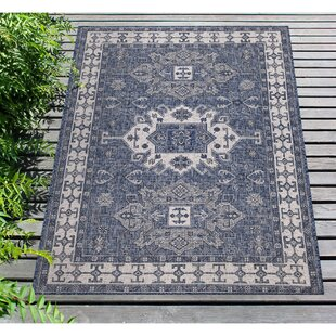 Arverne Navy Indoor/Outdoor Area Rug