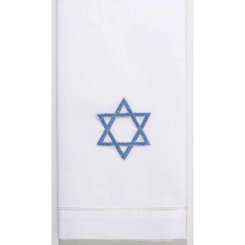 The Holiday Aisle Harpenden Star Of David Embroidered 100 Cotton Hand Towel Wayfair
