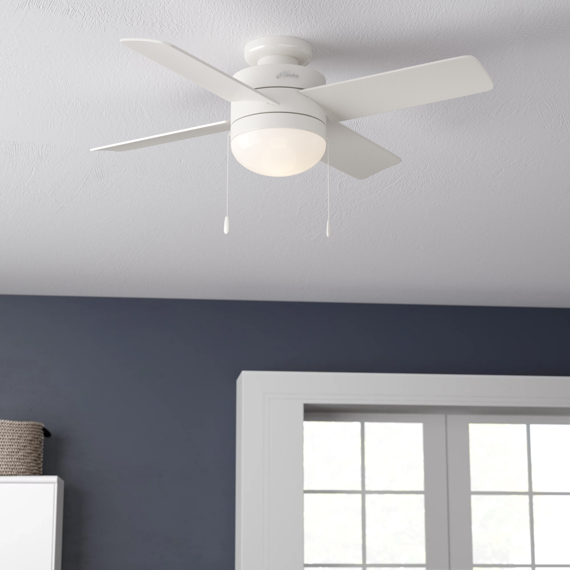 Tc Home 22 Inches Ceiling Fan With Light Led 3 Speeds Invisible Blades Close To Ceiling Bedroom Ceiling Fan Light Kits Tools Home Improvement Fcteutonia05 De