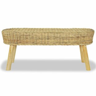 Pranav Wicker Bench By House Of Hampton