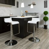 Nempnett Thrubwell Swivel  Adjustable Height Bar Stool (Set of 2) by Orren Ellis